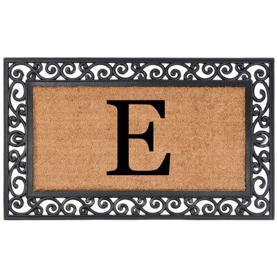 Allete Monogrammed Rubber Doormat Letter: E