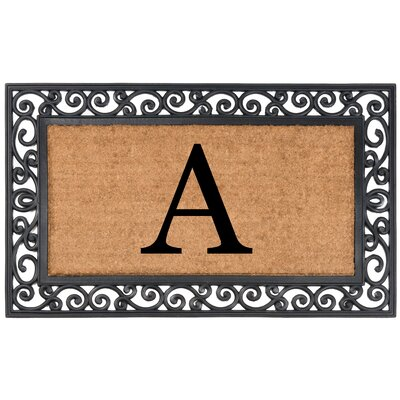 YourOwn Monogrammed Rubber Doormat Letter: A