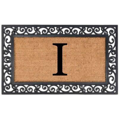 YourOwn Monogrammed Rubber Doormat Letter: I