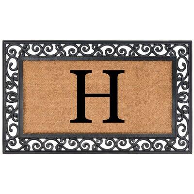 YourOwn Monogrammed Rubber Doormat Letter: H
