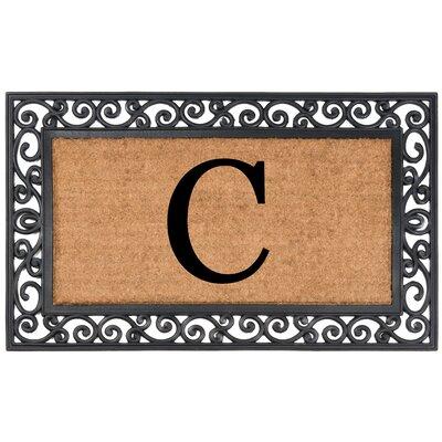 Allete Monogrammed Rubber Doormat Letter: C