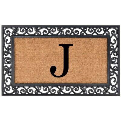 Allete Monogrammed Rubber Doormat Letter: J