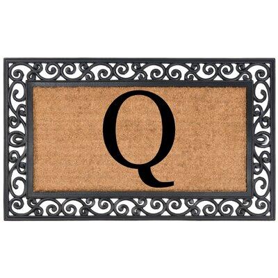 Allete Monogrammed Rubber Doormat Letter: Q
