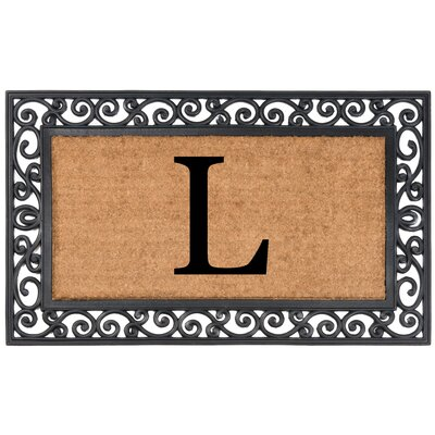 Allete Monogrammed Rubber Doormat Letter: L