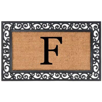 YourOwn Monogrammed Rubber Doormat Letter: F