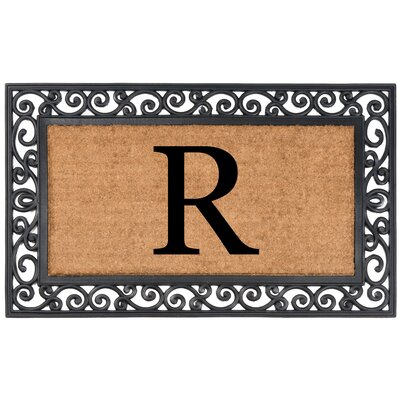 Allete Monogrammed Rubber Doormat Letter: R