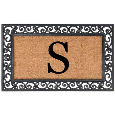 Allete Monogrammed Rubber Doormat Letter: S