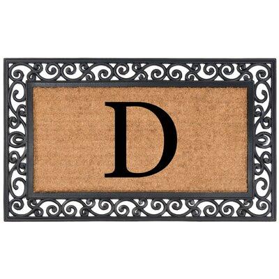 Allete Monogrammed Rubber Doormat Letter: D