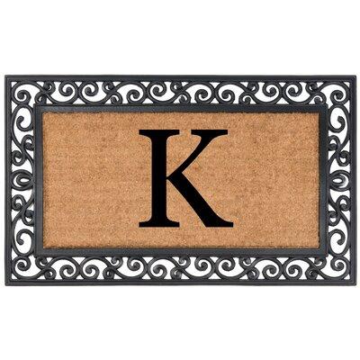 Allete Monogrammed Rubber Doormat Letter: K