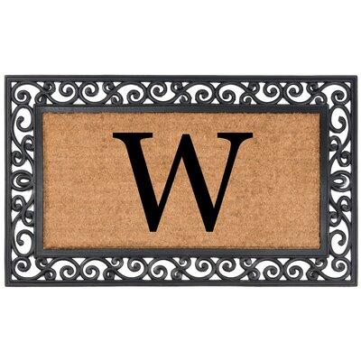 Allete Monogrammed Rubber Doormat Letter: W