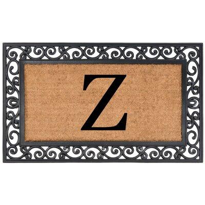 YourOwn Monogrammed Rubber Doormat Letter: Z