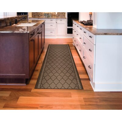 Mosaic Hallway Runner Doormat Rug Size: 10 x 22, Color: Chestnut Brown
