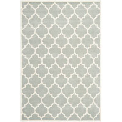 Wilkin Light Blue & Ivory Moroccan Area Rug Rug Size: Rectangle 5 x 8