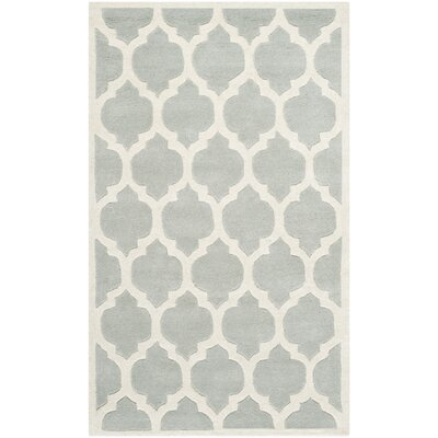 Wilkin Light Blue & Ivory Moroccan Area Rug Rug Size: Rectangle 3 x 5