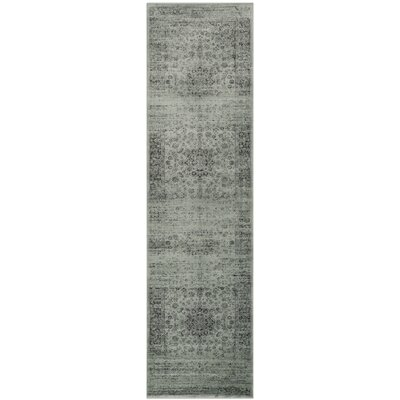 North Adams Green Area Rug Rug Size: Runner 22 x 8
