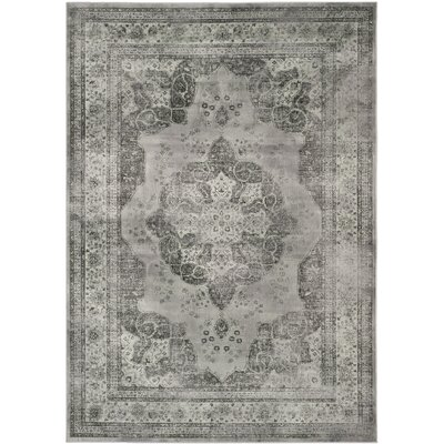 Makenna Gray/Green Area Rug Rug Size: Rectangle 53 x 76