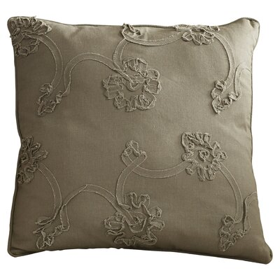 Lemelle 100% Cotton Throw Pillow Size: 17.5 H x 17.5 W x 17.5 D, Color: Gray