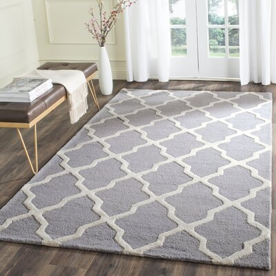Sugar Pine Hand-Tufted Gray Area Rug Rug Size: Rectangle 6 x 9