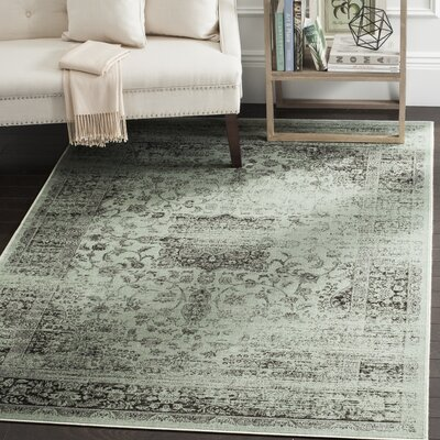 North Adams Green Area Rug Rug Size: Oval 53 x 76