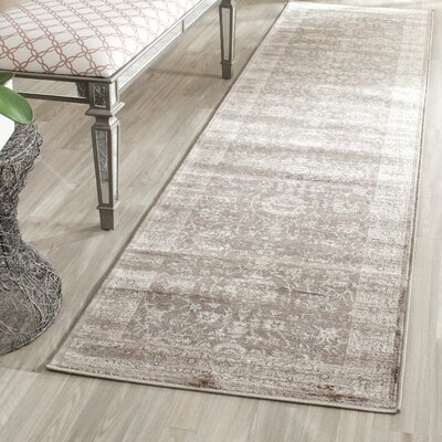Rindge Brown/Ivory Area Rug Rug Size: Rectangle 23 x 39