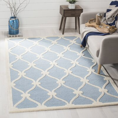 Martins H-Tufted Wool Blue Area Rug Rug Size: Rectangle 4 x 6
