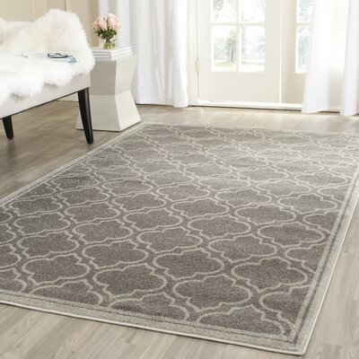 Maritza Gray Outdoor Area Rug Rug Size: Rectangle 4 x 6