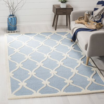 Martins H-Tufted Wool Blue Area Rug Rug Size: Rectangle 6 x 9