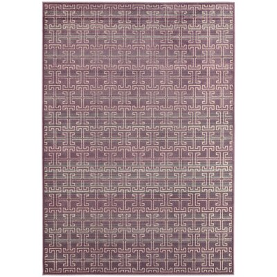 Saint-Michel Mauve/Multi Area Rug Rug Size: Rectangle 27 x 4