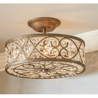 Destin 4-Light Semi Flush Mount