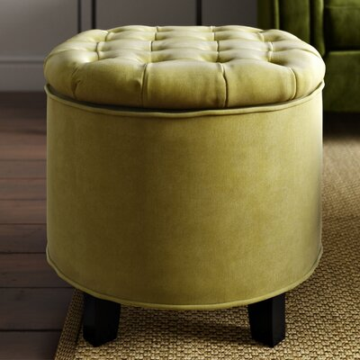 Hargrave Tufted Storage Ottoman Upholstery: Asparagus