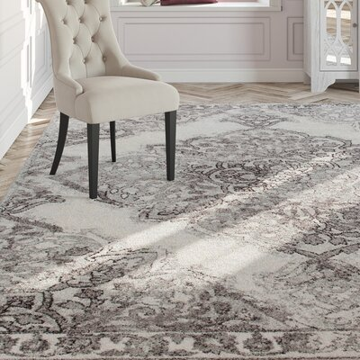 Wokefield Gray Area Rug Rug Size: Rectangle 9 x 12