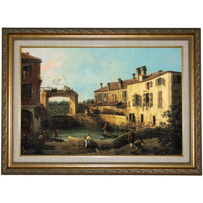 'Lock near Dolo 1776' by Canaletto Framed Painting Print c1016-canaletto0017-1218-decfr128