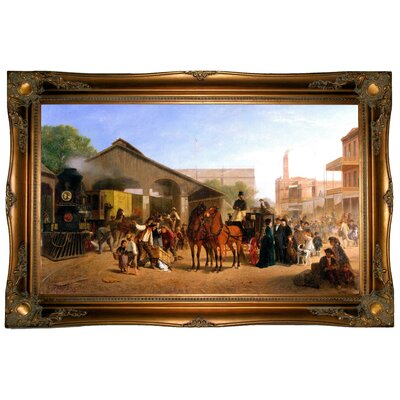 'Sacramento Railroad Station 1874' by William Hahn Framed Painting Print h1011-hahn0001-1932-cmfr512t92