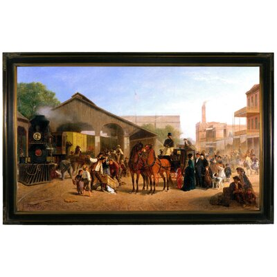 'Sacramento Railroad Station 1874' by William Hahn Framed Painting Print h1011-hahn0001-1932-decfr11692