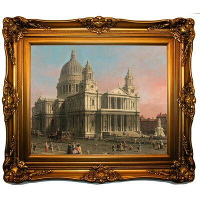 'St. Paul's Cathedral 1754' by Canaletto Framed Painting Print c1016-canaletto0006-1620-decfr10460