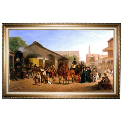 'Sacramento Railroad Station 1874' by William Hahn Framed Painting Print h1011-hahn0001-1932-decfr192