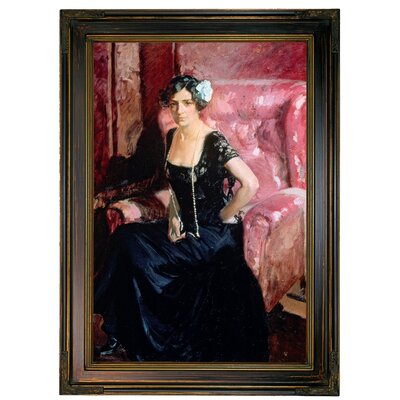 'Clotilde' Framed Oil Painting Print on Canvas Format: Bronze Framed, Size: 21.25'' H x 15.25'' W x 1.75'' D