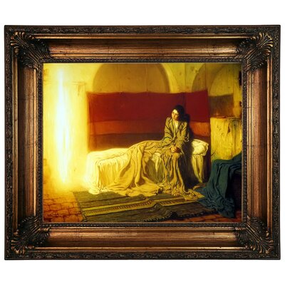 'The Annunciation' Framed Graphic Art Print on Canvas Size: 22.25