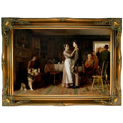'Breaking Home Ties 1890' Framed Graphic Art Print on Canvas Size: 24.5