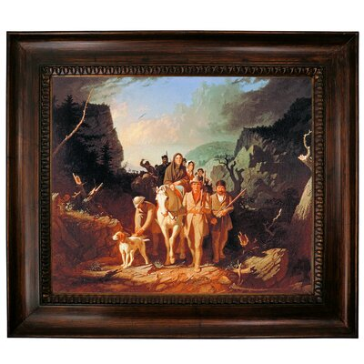 'Daniel Boone Escorting Settlers Through the Cumberland Gap' Framed Graphic Art Print on Canvas Size: 27