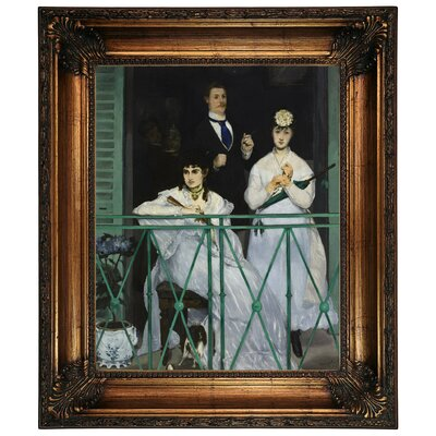 'The Balcony 1868' by Edouard Manet Framed Graphic Art Print on Canvas Size: 26.25