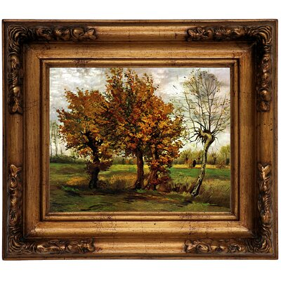 'Autumn Landscape with Four Trees' by Vincent van Gogh Graphic Art Print on Canvas Size: 12.5