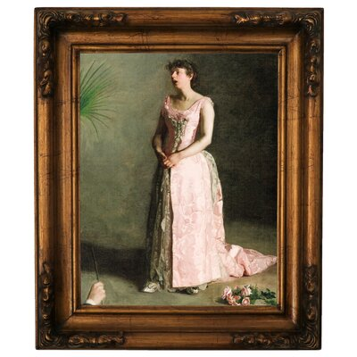 'The Concert Singer 1890' Framed Graphic Art Print on Canvas Size: 19.5