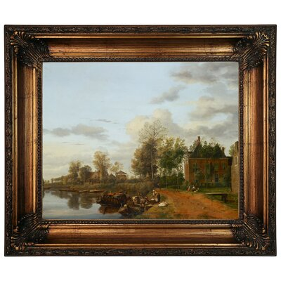 'Country House on the Vliet near Delft 1665' Framed Graphic Art Print on Canvas Size: 22.25