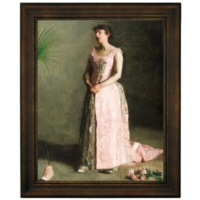 'The Concert Singer 1890' Framed Graphic Art Print on Canvas Size: 16.75