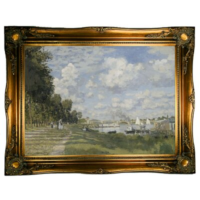 'Bassin d?Argenteuil 1872' by Claude Monet Graphic Art Print on Canvas