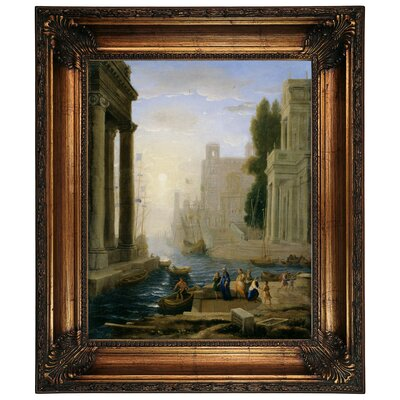 'Embarkation of St Paula' Framed Graphic Art Print on Canvas Size: 26.25