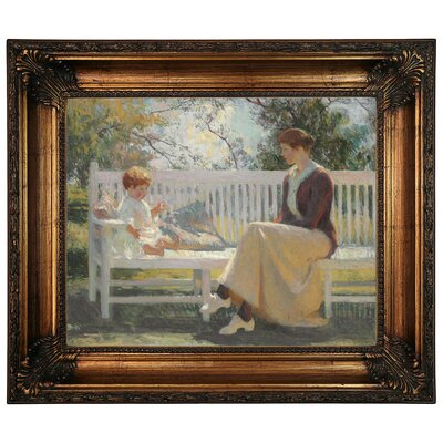 'Eleanor and Benny 1916' Framed Graphic Art Print on Canvas Size: 22.25