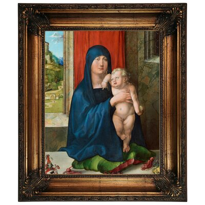 'Madonna and Child 1496' Framed Graphic Art Print on Canvas Size: 26.25