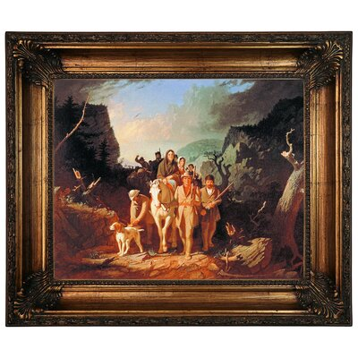 'Daniel Boone Escorting Settlers Through the Cumberland Gap' Framed Graphic Art Print on Canvas Size: 22.25